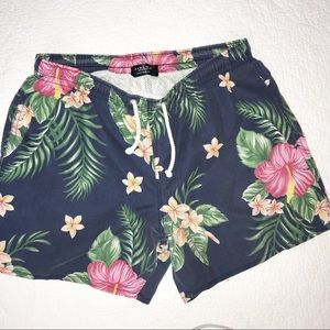 Zara man floral swim shorts
